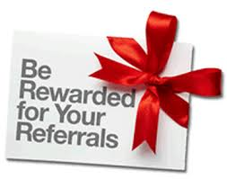 reward for referrals