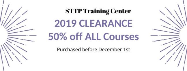 2019 CLEARANCE 50% off ALL Courses